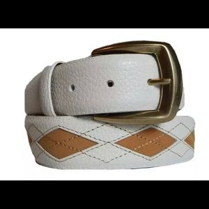 Men's Brighton New Zurich Diamond cut leather belt
